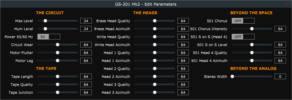 GSi - GS-201 Mark II - Tape Echo Simulator