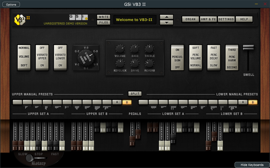 GSi - VB3-II Tonewheel Organ Simulator